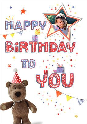 Barley Bear - Happy Birthday Photo Card