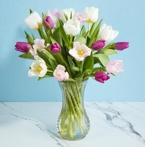 mixed tulip bouquet - 2699