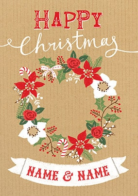 Christmas Foliage Personalised Card