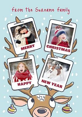 Babette - Reindeer Christmas Photo Card