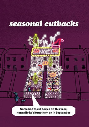 Cutbacks Lights Christmas Card