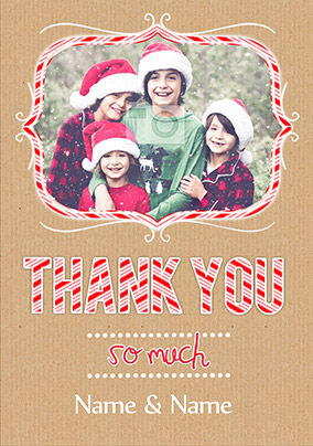 Candy Cane Lane - Christmas Thank You
