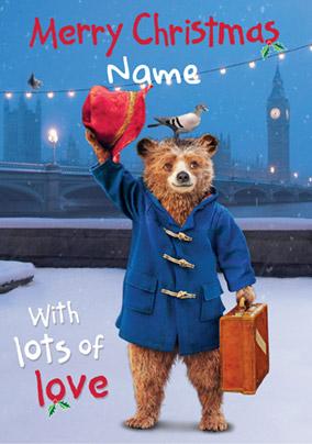 Paddington Bear Christmas Card Merry Christmas From