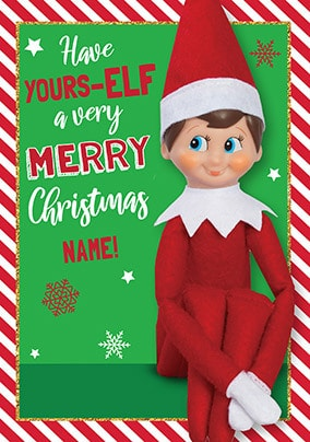 Have Yours-Elf...Personalised Christmas Card