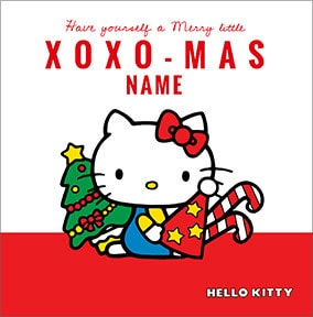 Hello Kitty Personalised Christmas Card