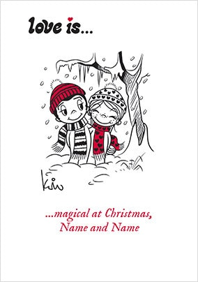 Love Is...Magical At Christmas Personalised Card