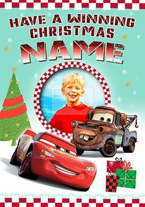 Cars Winning Christmas Photo Card