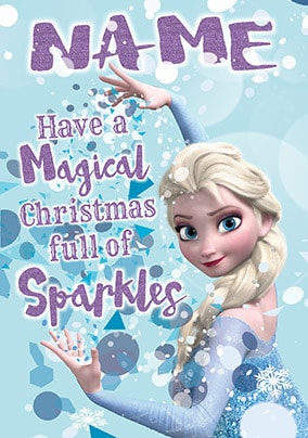 Elsa Frozen Personalised Christmas Card