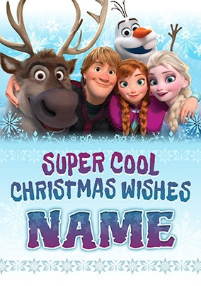 Frozen Super Cool Christmas Personalised Card