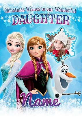 Frozen Daughter Photo Christmas Card