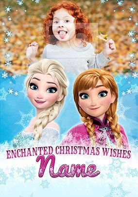 Elsa and Anna Photo Christmas Card