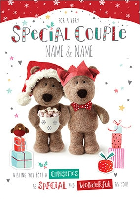Barley Bear Special Couple Personalised Christmas  Card