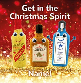 Get In The Christmas Spirit Personalised Card