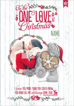 me to you christmas card one i love photo upload - Love Christmas Cards