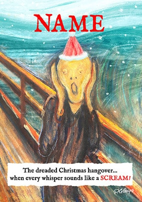 Dreaded Christmas Hangover Personalised Card