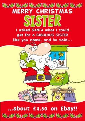 Merry Christmas Sister.Sister Christmas Cards Funky Pigeon
