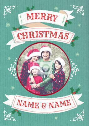 Deck the Halls Christmas Card - Merry Christmas