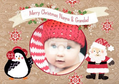 Deck The Halls - Nanna And Grandad Christmas Card