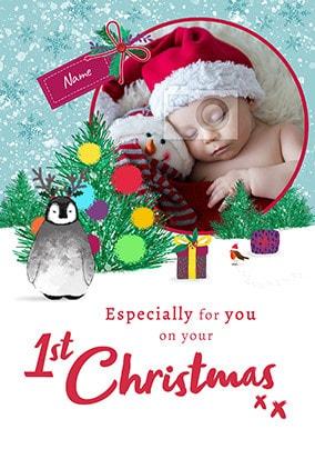 NEW INDIVIDUAL GRANDDAUGHTER/'S 1ST FIRST CHRISTMAS GRANDDAUGHTER CARD XMAS