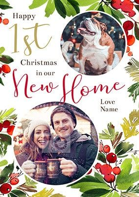 1st Christmas in Our New Home Photo Card