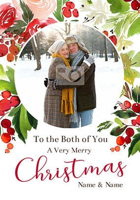 Both Of You Very Merry Christmas Photo Card
