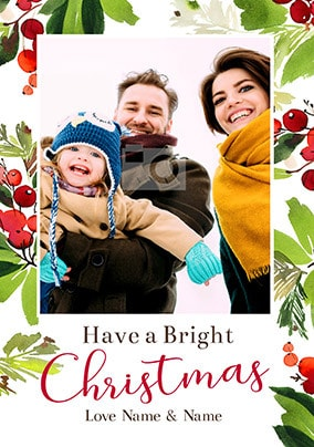Bright Christmas Photo Card