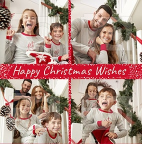 Happy Christmas Wishes Multi Photo Card