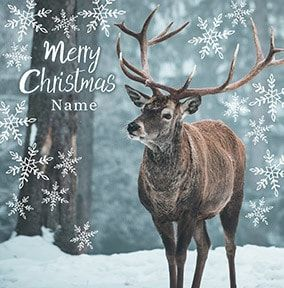 Christmas Stag Personalised Card