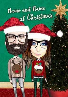 Couple at Christmas Photo Card