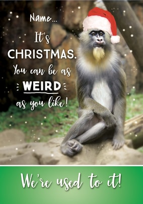 It's Christmas - Be Weird Personalised Card