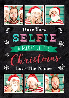 Have Your Selfie Photo Christmas Card