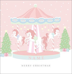 Christmas Carousel Personalised Card
