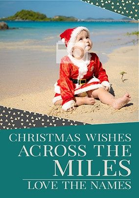 Christmas Wishes Across The Miles Photo Card