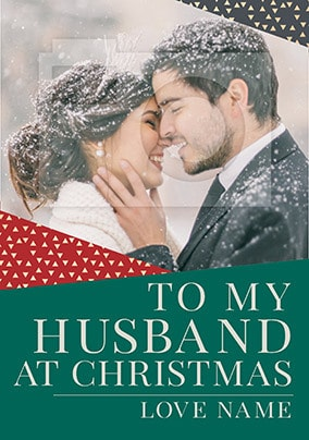 Husband Photo Christmas Card - You're Gold