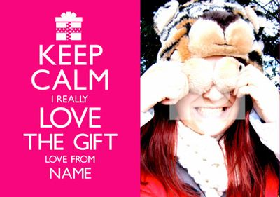 Keep Calm - Love The Gift Pink