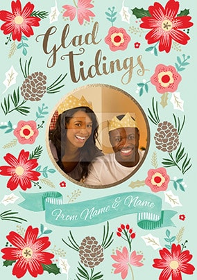 Glad Tidings Photo Upload Card
