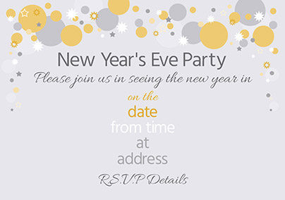 traditional new year party invitation advocate