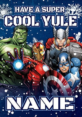 Avengers Super Cool Christmas Card
