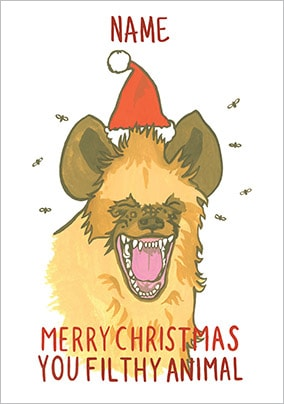 Filthy Animal Personalised Christmas Card