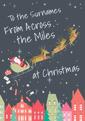 Across the Miles Christmas Card Santa - CardMix
