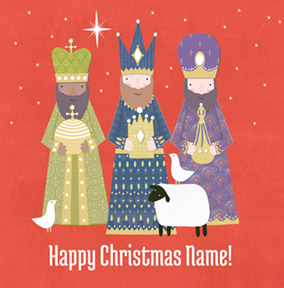 Religious Christmas Card We Three Kings - CardMix