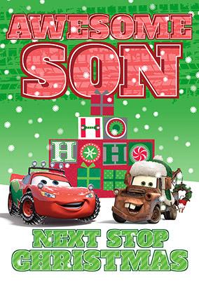 disney cars son christmas card