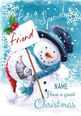 Me To You Special Friend Personalised Christmas Card