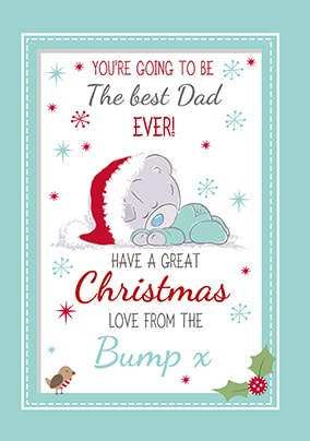 Dad From The Bump Personalised Christmas Card