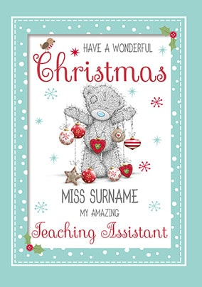 me to you teaching assistant christmas card