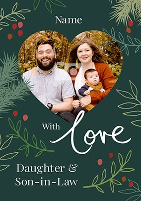 Daughter and Son-in-Law Photo Christmas Card