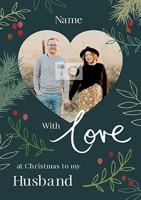 Husband Photo Upload Christmas Card