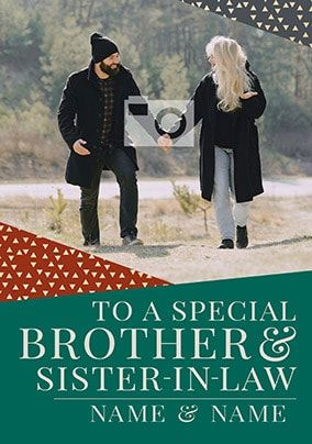 Brother & Sister-in-Law Christmas Photo Card