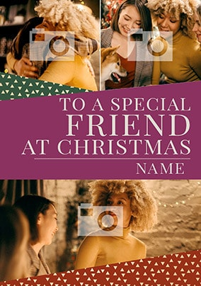Friend Multi Photo Christmas Card - You're Gold