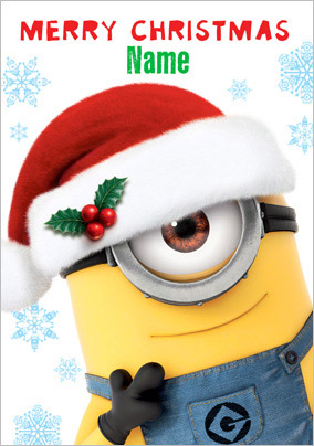 More like this... Minion Festive Merry Christmas Card